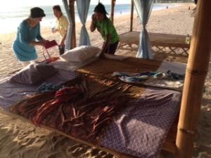 more massage on the beach