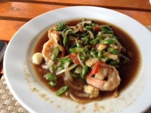 thai basil fried shrimp